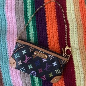 AUTHENTIC! Multicolor monogram Louis Vuitton purse